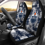 Edmonton Oilers (2 Styles) - Car Seat Covers (2pc Set)