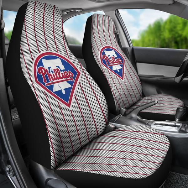 Philadelphia Phillies (2 Styles) - Car Seat Covers (2pc Set)