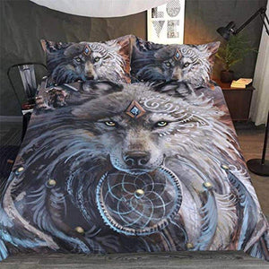 3D Animal Wolf Bed Duvet Cover