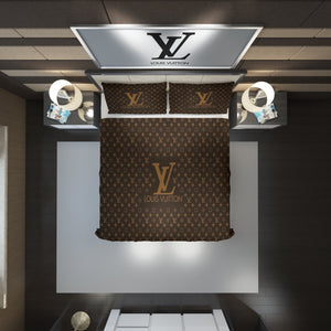 Louis Vuitton Custom Bedding Set #1(Duvet Cover & Pillowcases)