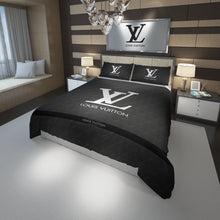 Load image into Gallery viewer, Louis Vuitton Gray Custom Bedding Set #2(Duvet Cover & Pillowcases)