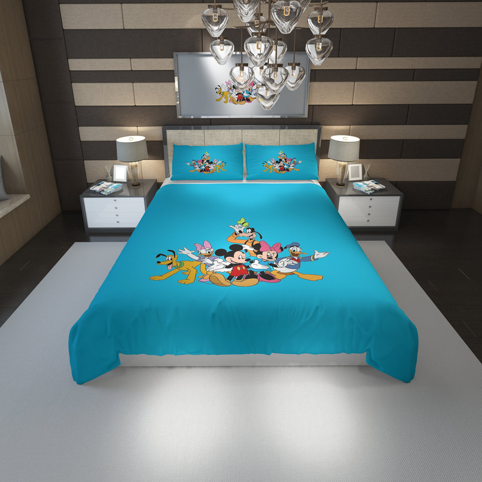 Mickey and friends - Bedding Set #1(Duvet Cover & Pillowcases)