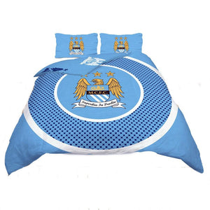 Manchester City Fc Single And Double Duvet Cover Sets Bedroom Bedding