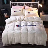 Champion Logo Custom Bedding Set Duvet Cover