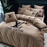 LV Louis Vuitton Logo #2 Custom (3 Type) Bedding Set Duvet Cover