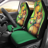 Pikachu And Eevee Car Seat Covers