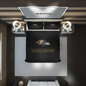 Baltimore Ravens logo Bedding Set Duvet Cover