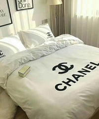 Chanel Logo (2 Color) Custom Bedding Set (Duvet Cover & Pillowcases)