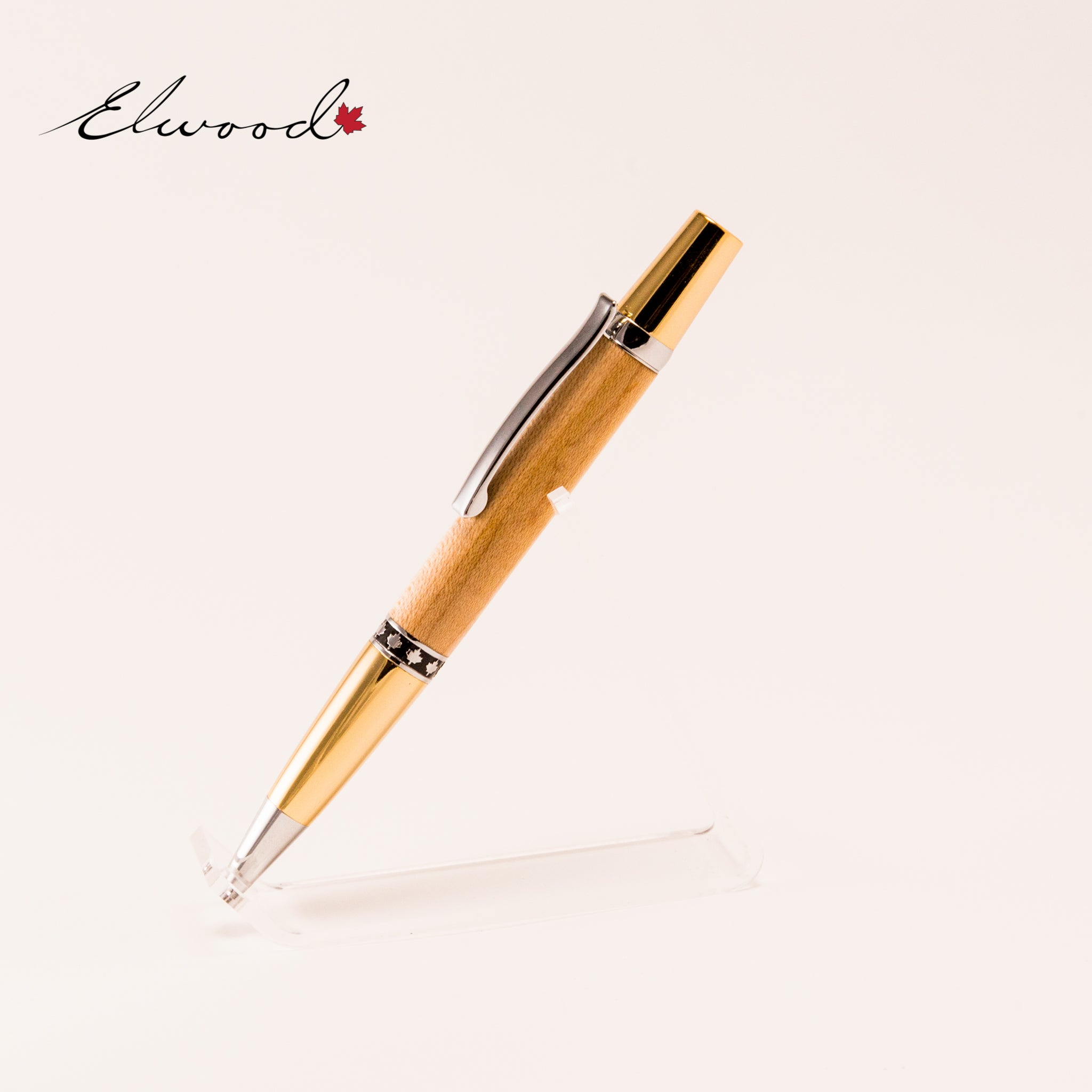 Maple Leaf twist pen upright slanting right