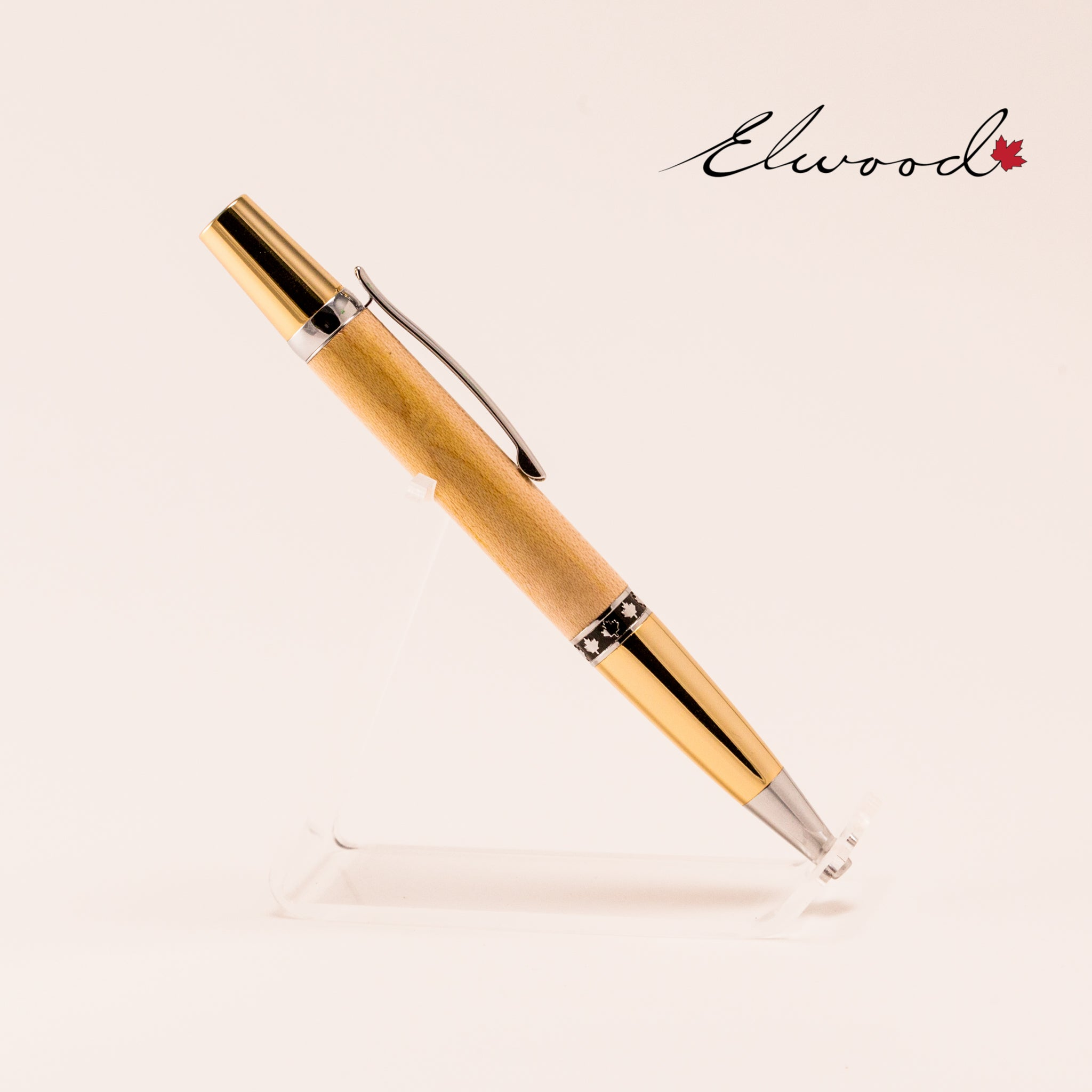 Maple Leaf twist pen upright slanting left