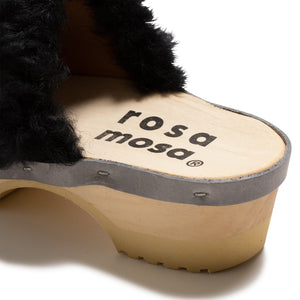 PANTO  CURLY   CLOGS  BK  37