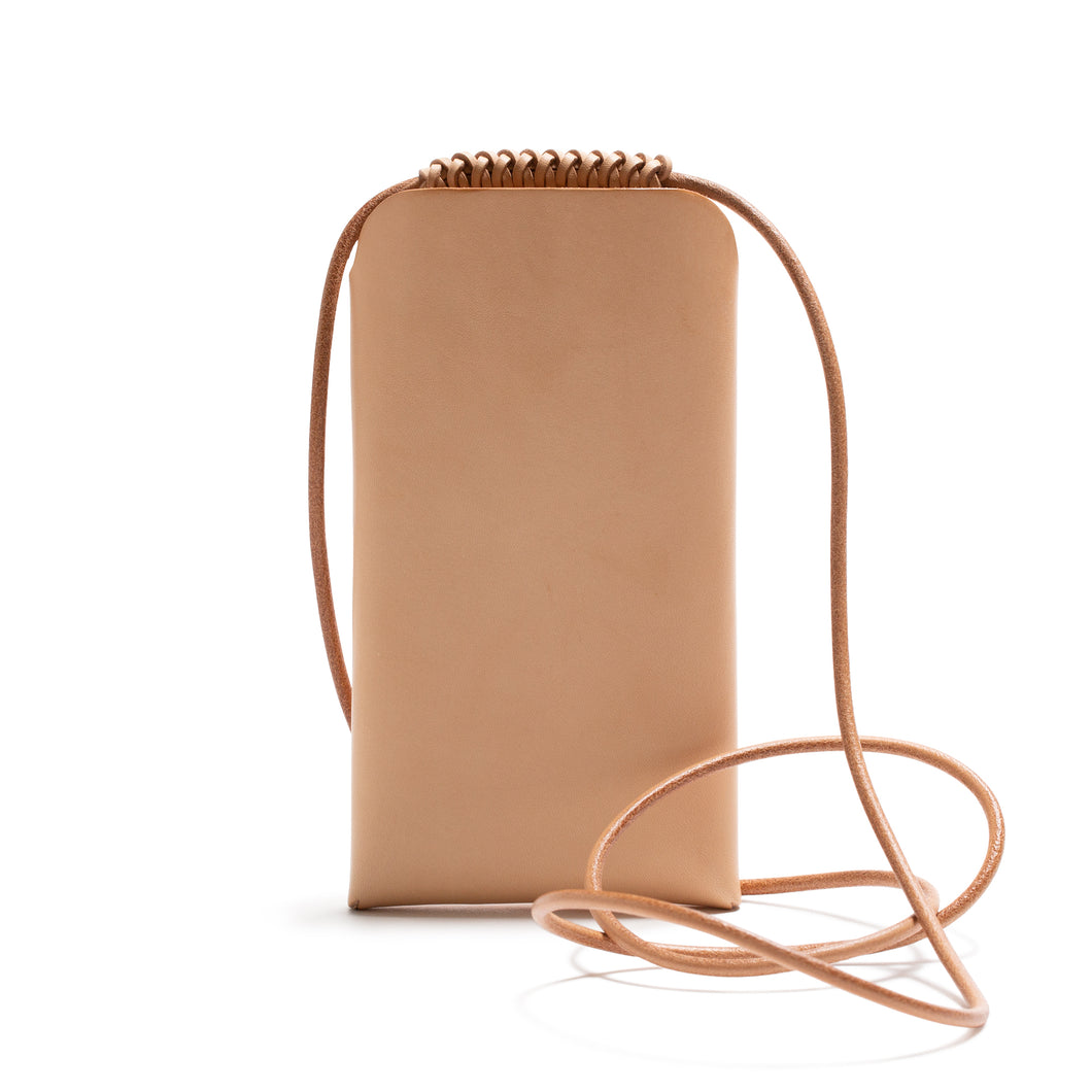 Woven I PHONE Sling TAN (Italian Veg Tanned Leather)