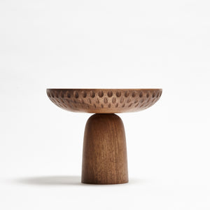 ZNT BOWL L WALNUT Rain Drops