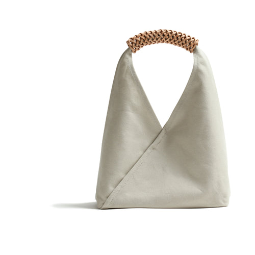 Woven Triangle Bag S  WHITE