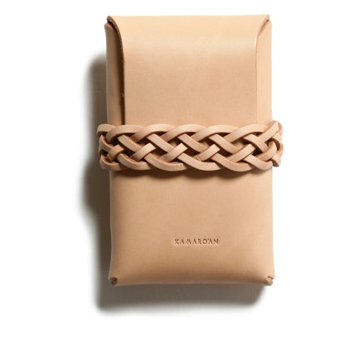 【祇園店のみ】Woven Card Case (Italian Veg Tanned Leather)