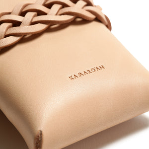 Woven Card Case (Italian Veg Tanned Leather)