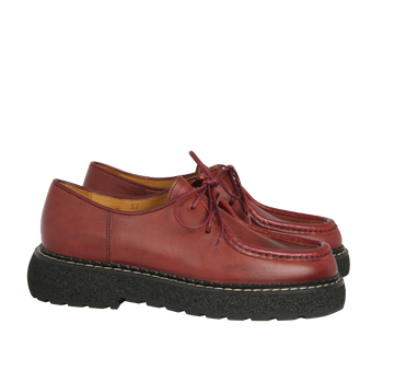 mona - derbies cuir bordeaux
