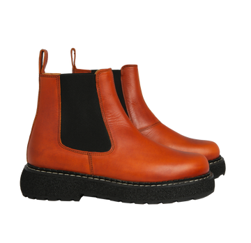 polly - chelsea boots cuir rouille