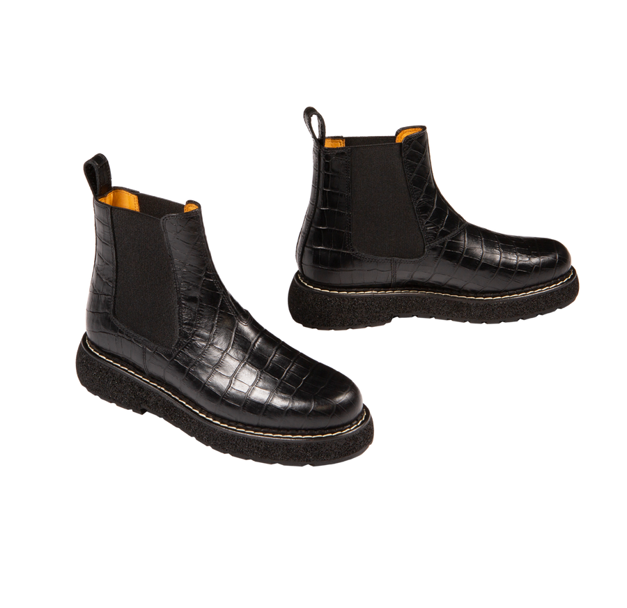polly - chelsea boots daim sable