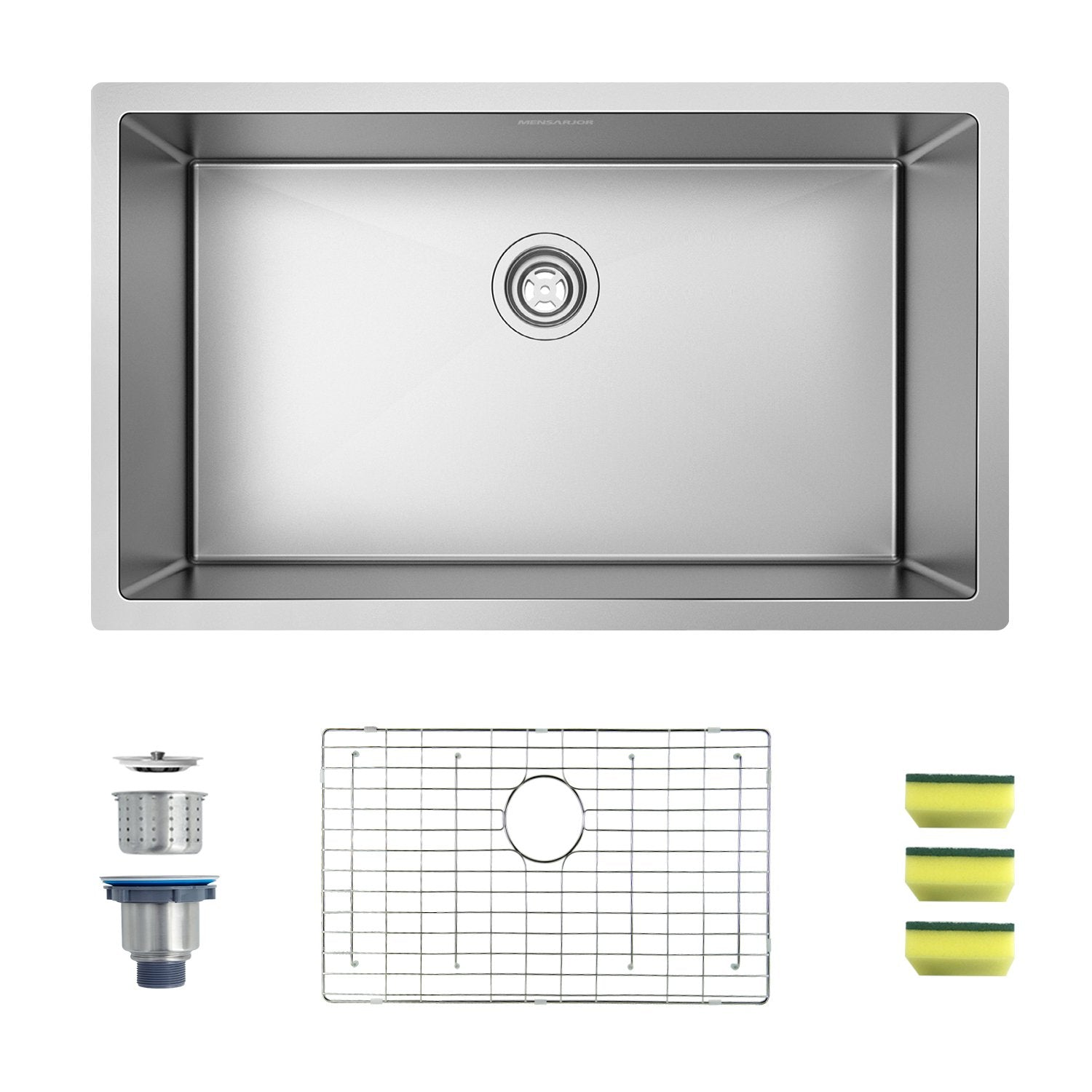Mensarjor 30'' X 18'' Undermount Single Bowl Kitchen Sink