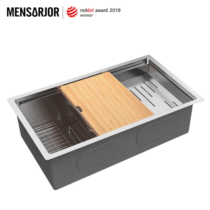 Mensarjor 30'' X 19'' Undermount Kitchen Sink Workstation