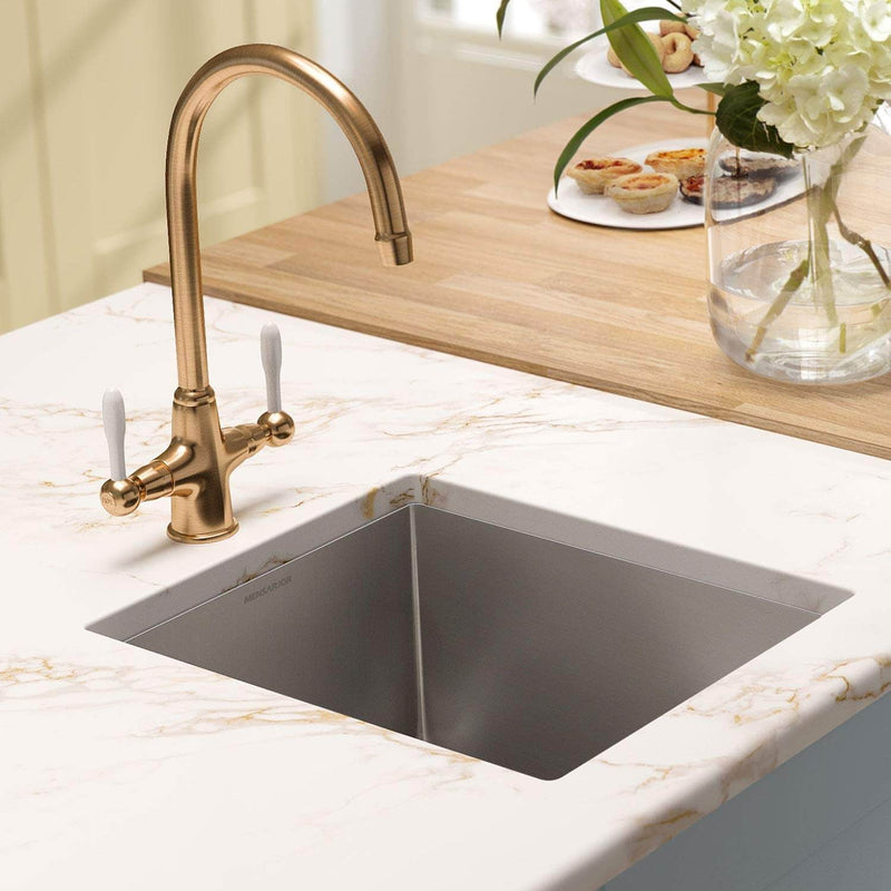 Mensarjor 15'' X 17'' Undermount Single Bowl Kitchen Sink