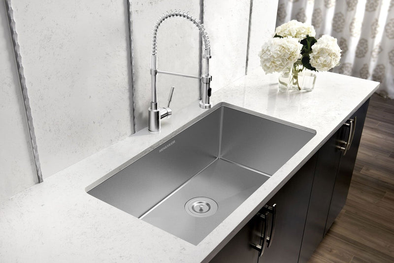 Mensarjor 32'' X 19'' Undermount Single Bowl Kitchen Sink