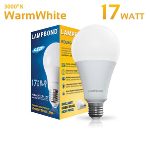 Lampbond® - Lampu LED Bohlam 17 Watt - Warm White