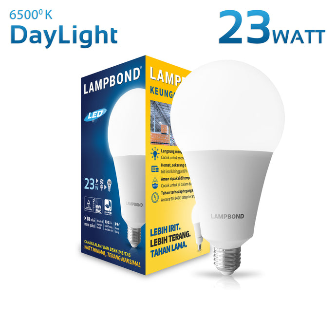 Lampbond® - Lampu LED Bohlam 23 Watt - Cool Daylight
