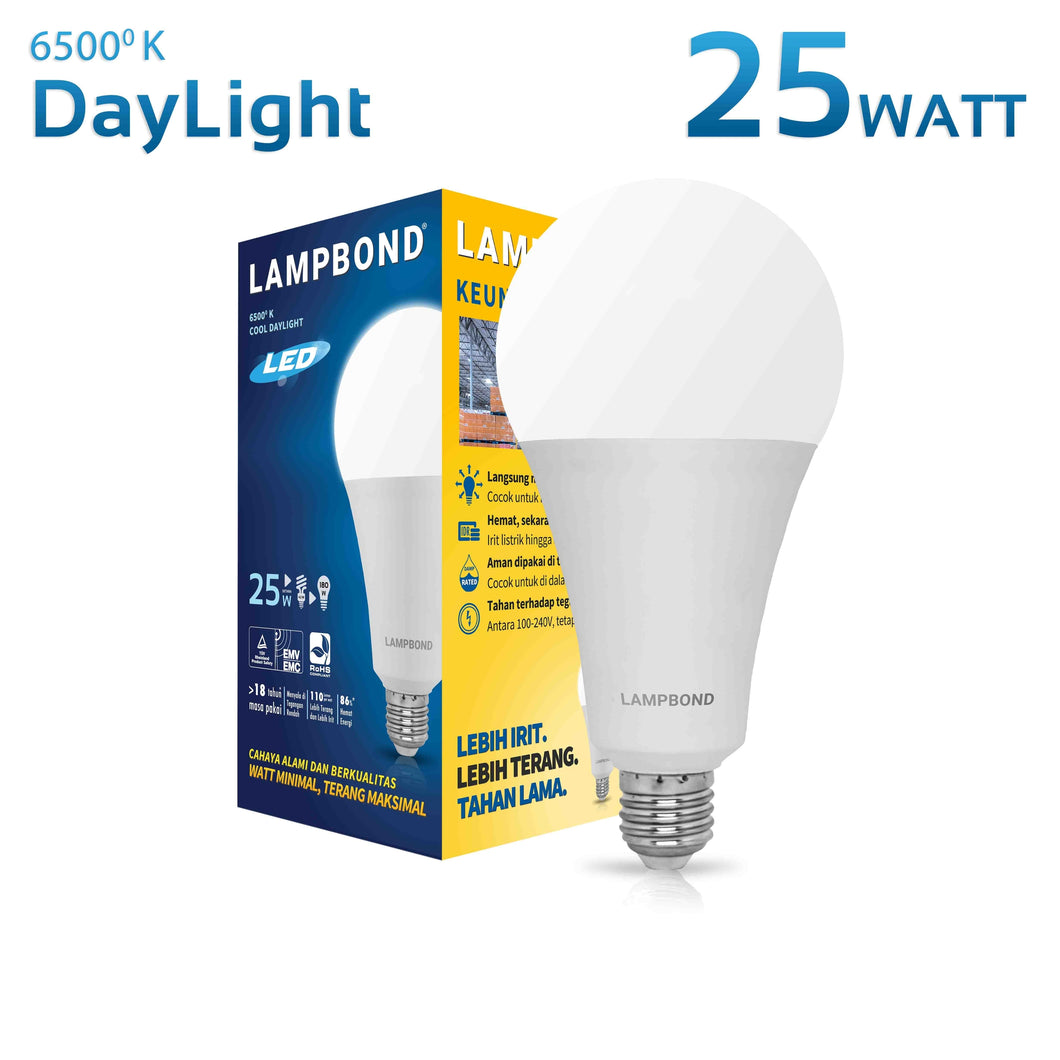 Lampbond® - Lampu LED Bohlam 25 Watt - Cool Daylight