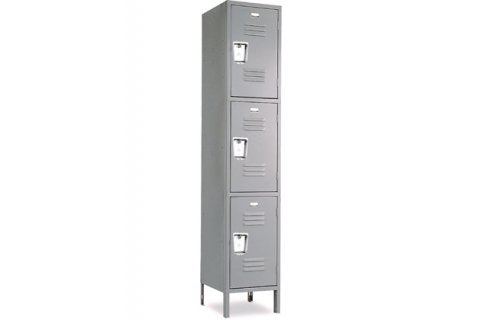 Triple Tier Standard Steel Locker 1-Wide 12