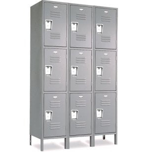 Triple Tier Standard Steel Locker 3-Wide 12