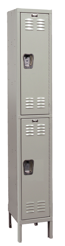 Double Tier Standard Steel Locker 1-Wide 12