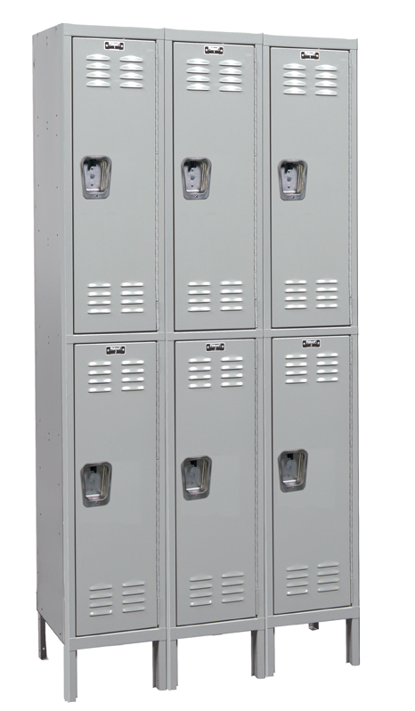 Double Tier Standard Steel Locker 3-Wide 12