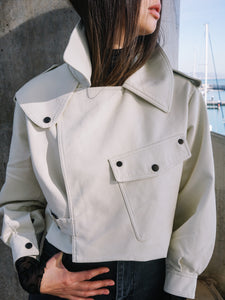 Off-White Soft Leather Jacket