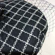 Load image into Gallery viewer, Wool Plaid Beret with Mesh