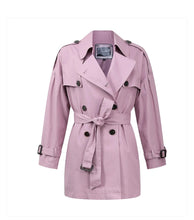 Load image into Gallery viewer, Purple waterproof trench coat