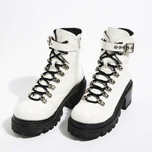 Load image into Gallery viewer, Motorcycle White Glossy Boots
