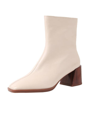 Women Boots with Wooden Heel