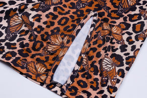 Leopard butterfly mini dress