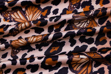 Load image into Gallery viewer, Leopard butterfly mini dress