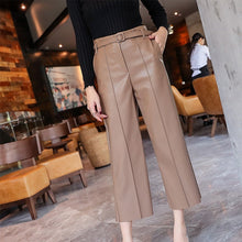 Load image into Gallery viewer, Leather Pants Women With Belt
