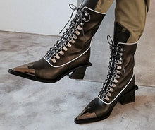 Load image into Gallery viewer, Leather Lace Up Boots