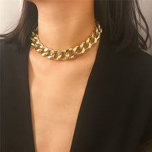 Load image into Gallery viewer, thick link chain big golden choker for women 2020