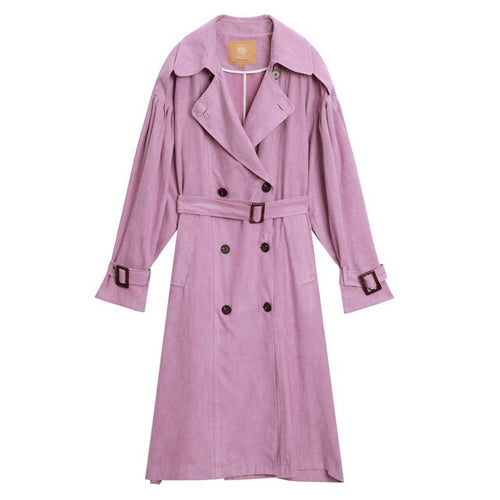 Pink Lavender Oversized Trench Coat