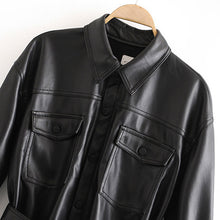 Load image into Gallery viewer, Faux Leather Overshirt