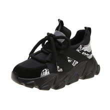 Load image into Gallery viewer, Black Chunky Platform Shoes Sneakers Running Shoes