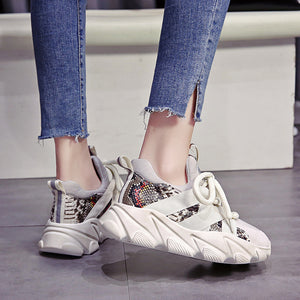 Mesh Sneakers on Chunky Platform