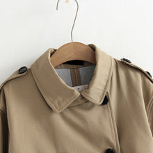 Load image into Gallery viewer, Cotton-gabardine trench coat