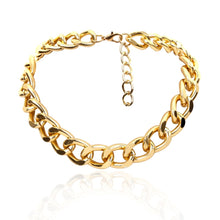 Load image into Gallery viewer, thick link chain big golden choker for women